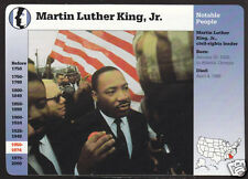 DR. MARTIN LUTHER KING JR Civil Rights Leader Photo STORY OF AMERICA BIO CARD