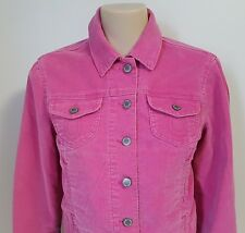 The Gap Pink Corduroy Jean Jacket Classic Trucker Style Stretch Women's Small