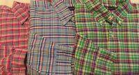 NWT Ralph Lauren BLUE, GREEN, RED Plaid Oxford long sleeve button Shirt BIG&TALL