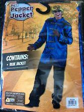 Beatles Sgt Pepper Jacket Blue Fancy Dress Top Adult