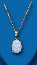 Echte Edelstein-Anhänger aus Gelbgold mit Opal