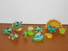 Lot Lps Littlest Pet Shop Reptiles Lizards Frog Turtles Fish Lily Pads Rock Tree