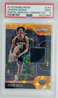 2019 Panini Prizm Snstnl Swatch Orange Ice Jaxson Hayes #JXH, PSA 9, Pop 2, 3 ^
