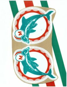 Dolphins TB Football Helmet Decals Free Shipping 1993