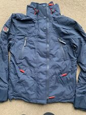 Superdry Men's Hooded Polar Wind Attacker Sports Jacket, Blue Navy Red Small