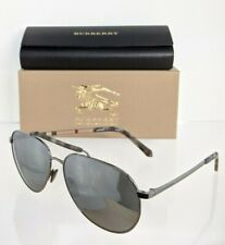 Brand New Authentic Burberry BE 3097 Sunglasses 1003/6G Gunmetal Frame 59mm
