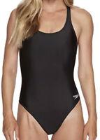 NWT Speedo Women's Pro LT Super Pro One Piece Swimsuit BLACK Size 30