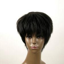 perruque afro femme 100% cheveux naturel courte noir ref JEAN 04 1B