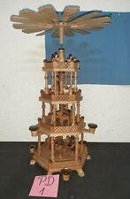 Schöne alte  Seiffener Weihnachtspyramide  DREGENO 3 Etagen mit Figuren (PD1)
