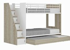 single bunk with pullout trundle and stairs case storage NEW DESIGN Kids