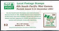 Norfolk Is 2001 South Pacific Games Booklet SG SB15 MNH