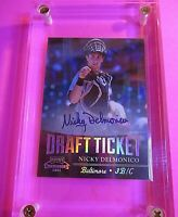 2011 Contenders Draft Ticket Autograph Nicky Delmonico RC Auto WHITE SOX