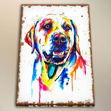 Watercolor Painting Art Colorful Yellow Lab for Bedroom Decor Print Canvas 24x32
