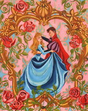 Megan Withey SIGNED Mini Walt Disney Art Print Sleeping Beauty & Prince Charming
