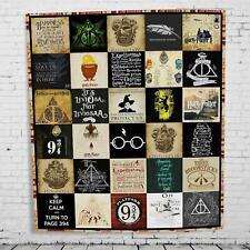 Harry Potter blanket,Amazing Harry Potter, Hogwarts School Quilt, Fleece Blanket
