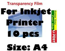 .10 x A4 Screen Printing Transparency Film for Inkjet printer AU local fast ship