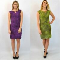 OFFICE Dyed Silk Blend Sleeveless Dress Green Or Purple RRP £39