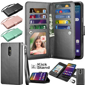 For LG Stylo 5 / Stylo 4 Phone Leather Wallet Flip Card Holder Stand Case Cover