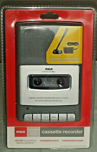RCA RP3504 Cassette Recorder w/ Stand Up Microphone & Power Adapter *New Sealed*