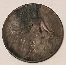 5 Centimes Daniel Dupuis Bronze 1901 N1