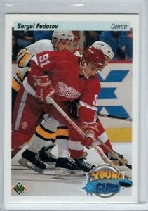 SERGEI FEDOROV 1990-91 Upper Deck FRENCH YOUNG GUNS Rookie #525 Detroit RC
