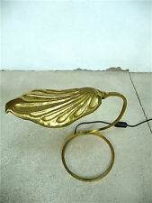 TOMMASO BARBI Brass Table Lamp GOLDEN LEAF Tischlampe Lampe Mid-Century 60er 60s