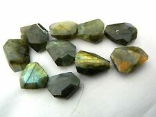 Labradorite, Faceted Nugget Bead x 1, Great Highlights! 18mm x 16mm Approx