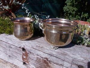 2 x Vintage Brass Plant Jardinieres Pots Trough Ref MP/188a