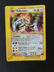 Pokemon NEAR MINT ENG Kabutops CRYSTAL HOLO Skyridge 150/144 No Charizard