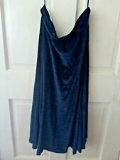 Blue Velvet Skirt  size medium to large