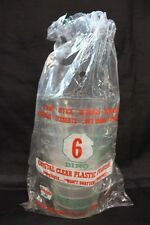 1960-70's Sinclair 6 Dino Clear Plastic Tumblers In Original Plastic Wrap
