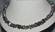 Damen Halskette Süßwasserperlen, 51 cm, Verschluss Sterlingsilber