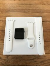 Apple Watch Series 1 First Generation Stainless Steel 42mm - White Band