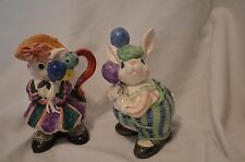Fitz and Floyd Collectible Him & Her Bunnies Sugar and Creamer