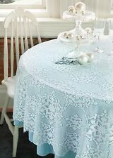 """Snowman Winter Whimsy in White by Heritage Lace Table Topper 42/"""""""