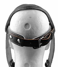 Head Neck Harness Exercise Leather Black & Chain Neck Dipping Harness By Senshi