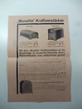 'Monette'  - Kraftverstarker 1930