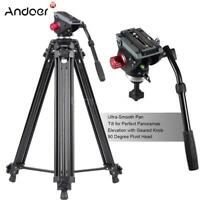 """72"""" Camera Tripod for DV DSLR Video Stand Aluminum Fluid Pan Head with Carry Bag"""