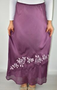 New East Silk Maxi Skirt Lavender Purple Spring Holiday Summer Cruise Size 14 AK