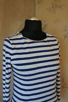 Women's Massimo Dutti striped blouse L 12 top T-shirt casual top long sleeved