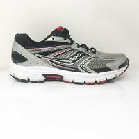 Saucony Mens Grid Cohesion 9 S25262-1 Silver Running Shoes Lace Up Size 10.5