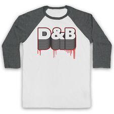D&B DRUM AND BASS DNB FAN ELECTRONIC BREAKBEAT MUSIC UNISEX 3/4 BASEBALL TEE