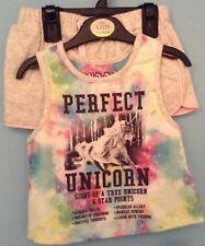 BNWT M&S Bebé Niñas Pijamas, Pjs, la edad de 3-4 años, SHORTIES, Unicornio