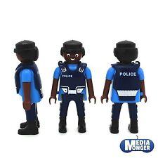 playmobil® Polizei Figur: afrikanisch brauner Polizist mit Schutzweste RAR