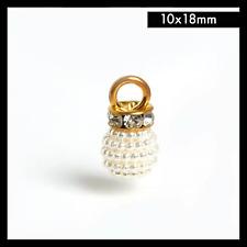 1 pc Plastic ABS Imitation Drop Pearl Bead Charms Pendant DIY Jewelry 10x18mm