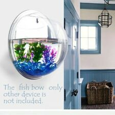 Fish Wall Mounted Bowl Aquarium Wall Hanging Tank Plant Decoration Pot 15*15*8cm
