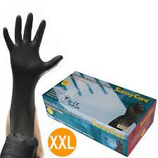SunnyCare #8905 5mil Black Nitrile Exam Gloves Powder-Free(Latex Vinyl Free) XXL