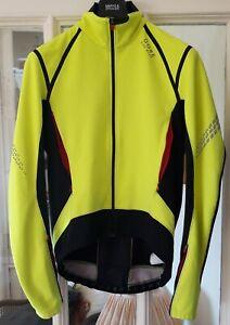 Gore Bike Wear Xenon 2.0 Windstopper Softshell Jacket. Hi Viz Yellow. Mens Large