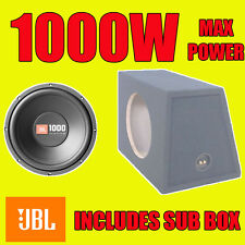 "JBL 12 ""POLLICI 1000W CAR AUDIO SUBWOOFER driver BASS SPL Sub Woofer + BOX MDF"
