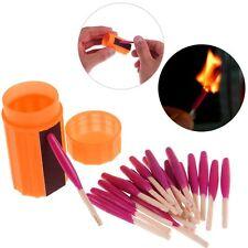 Survival Outdoor Travel Stormproof Waterproof Matches Emergency Lighter Kit Gear